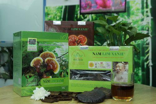 Các sản phẩm nấm lim xanh rừng của công ty TNHH Nông lâm sản Tiên Phước.
