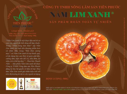 Hộp sản phẩm Nấm lim xanh loại Tốt, Thái lát giá: 1.650.000 Đ /hộp