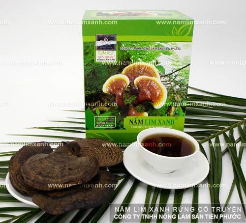 Các sản phẩm nấm lim xanh của công ty TNHH Nông lâm sản Tiên Phước.