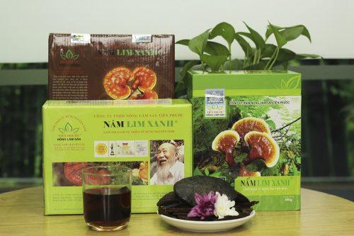 3 sản phẩm nấm lim xanh tự nhiên của công ty TNHH Nông lâm sản Tiên Phước.