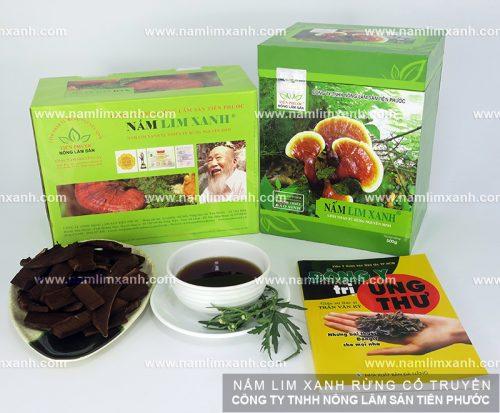 Sản phẩm Nấm lim xanh của Công ty TNHH Nông Lâm Sản Tiên Phước được bán ở đại lý