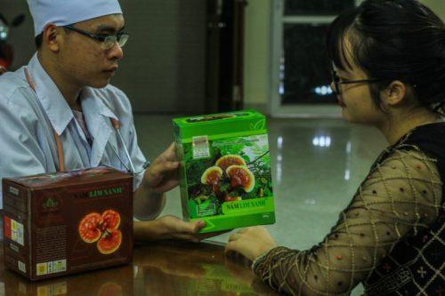 Tác dụng của nấm linh xanh rừng chữa bệnh ung thư tuyến giáp.
