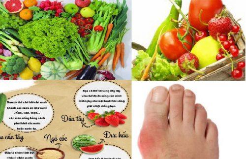 Bị bệnh gout nên ăn gì?
