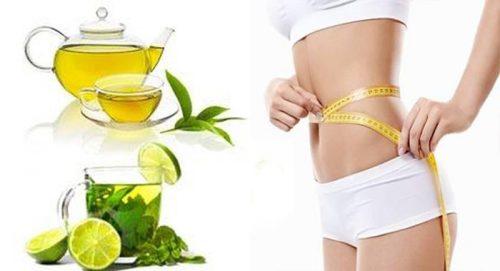 Cách làm nước uống giảm cân nhanh từ trà xanh