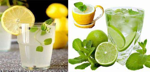 Nước uống giảm cân nhanh từ chanh pha loãng