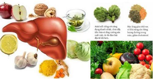 Các loại thực phẩm giải độc gan