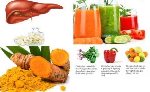 Các loại thực phẩm giải độc gan hiệu quả nhất