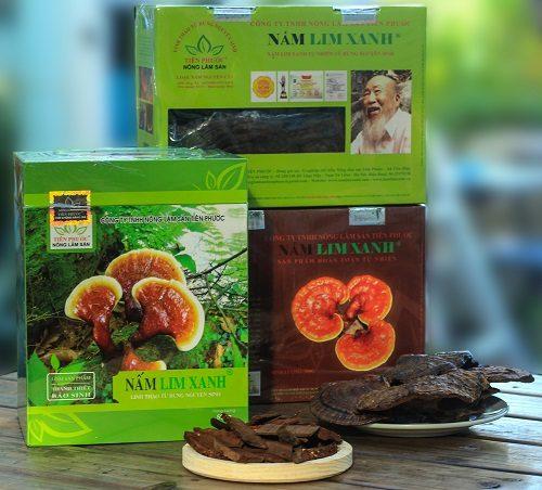 Nấm lim xanh rừng công ty Tiên Phước được sơ chế, đóng gói khoa học, người dùng không phải mất công sức bảo quản.