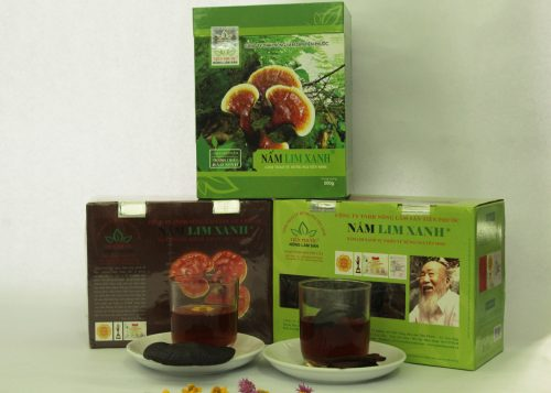 Các sản phẩm nấm lim xanh của công ty TNHH Nông - Lâm - Sản Tiên Phước.