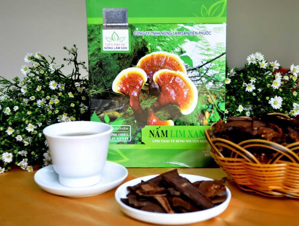 Sản phẩm nấm lim xanh của Cty Nông lâm sản Tiên Phước