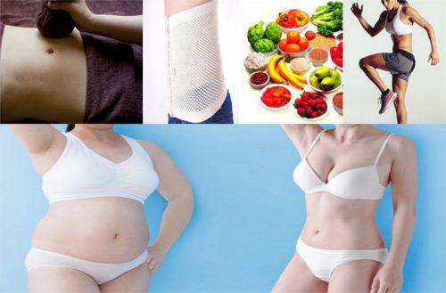 Cách giảm mỡ bụng cho phụ nữ sau sinh