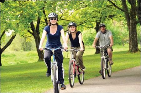 Đạp xe đạp hàng ngày giúp giảm mỡ bụng và đùi hiệu quả