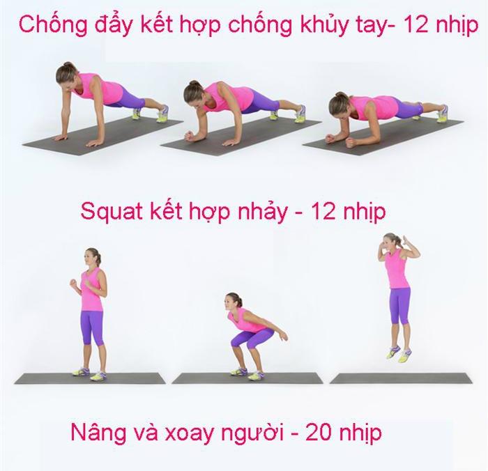 Kết hợp với các bài tập giảm mỡ bụng
