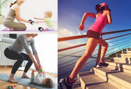 Lưu ý khi tập thể dục giảm béo cho phụ nữ sau sinh