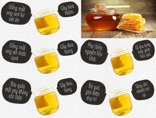 Những sai lầm hay mắc phải khi giảm cân bằng mật ong
