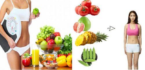 Nguyên tắc lựa chọn thực phẩm giảm mỡ bụng tự nhiên