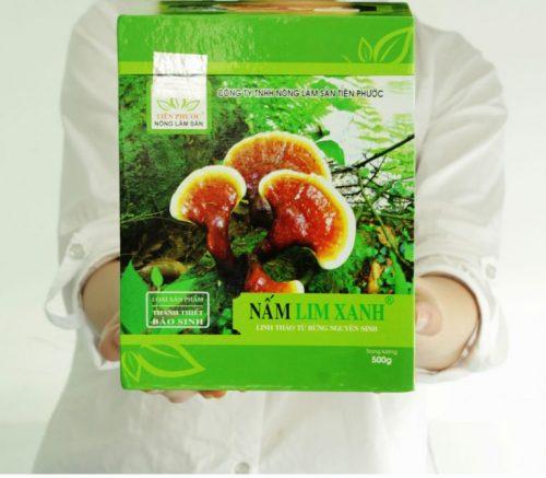 Nấm lim xanh loại Thanh Thiết Bảo Sinh có giá 2.000.000 đồng/hộp 500g được niêm yết tại các đại lý.