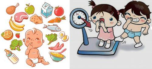 Cách tăng cân nhanh chóng cho trẻ nhỏ
