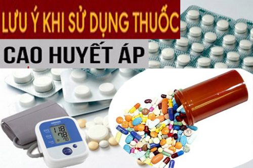 Lưu ý khi uống thuốc điều trị huyết áp cao