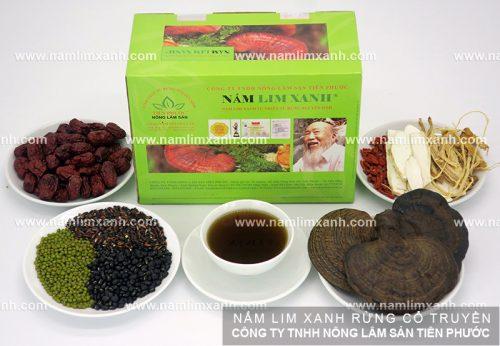 Sản phẩm được bán ở đại lý nấm lim xanh tại Phú Thọ.