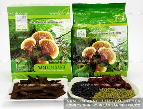 Sản phẩm nấm lim xanh chính hãng được bán tại các đại lý ủy quyền ở Nghệ An của Công ty TNHH Nông lâm sản Tiên Phước