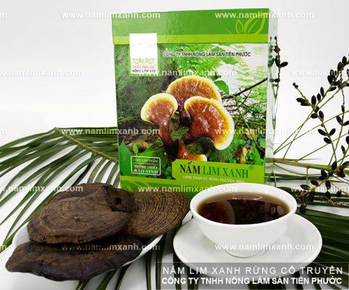 Sản phẩm nấm lim xanh được bày bán tại các đại lý ủy quyền ở Đà Nẵng của công ty TNHH Nông lâm sản Tiên Phước