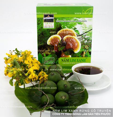 Sản phẩm nấm lim xanh rừng tại đại lý Hải Phòng của Công ty TNHH Nông lâm sản Tiên Phước.