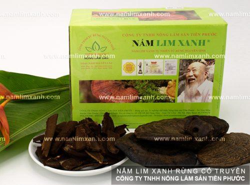 Sản phẩm nấm lim xanh rừng tự nhiên ở đại lý bán nấm lim xanh Gia Lai.