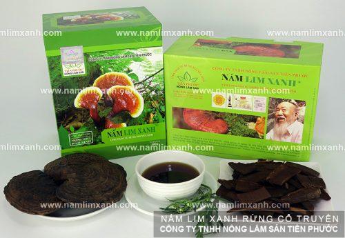 Sản phẩm nấm lim xanh tại đại lý Hà Giang của Công ty nấm lim xanh Tiên Phước.