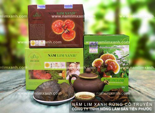 Bộ sản phẩm nấm lim xanh của Công ty TNHH Nông lâm sản Tiên Phước