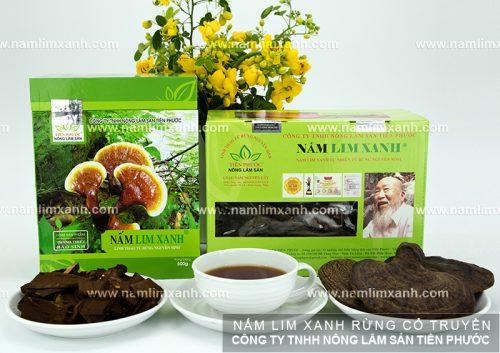 Các sản phẩm của nấm lim xanh của công ty TNHH Nông - Lâm - Sản Tiên Phước.