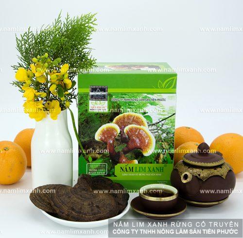 Các sản phẩm nấm lim xanh rừng theo phương pháp chế biến gia truyền của công ty Tiên Phước.