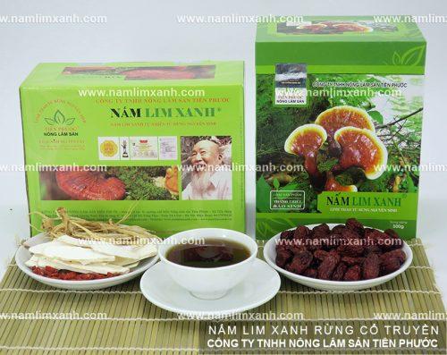 Các sản phẩm nấm linh xanh được phân phối bởi công ty Nông Lâm Sản Tiên Phước