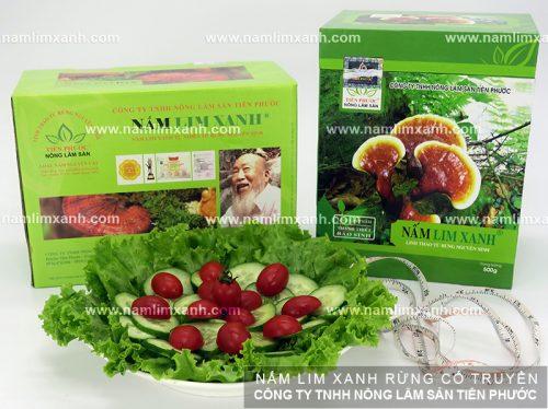 Giá của nấm lim xanh rừng Quảng Nam được Công ty TNHH Nông - Lâm - Sản Tiên Phước niêm yết.