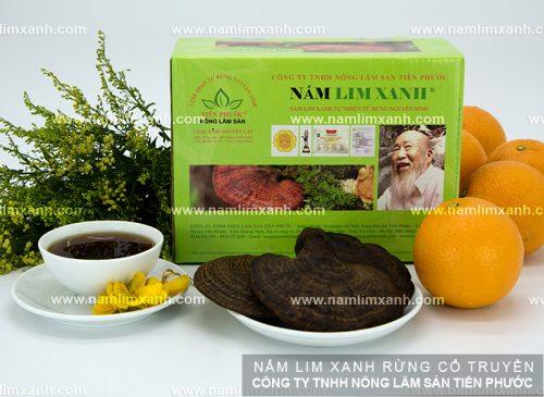 Nấm được sử dụng hoàn toàn là nấm lim xanh tự nhiên được thu hái từ rừng nguyên sinh.