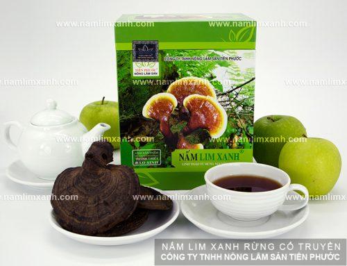 Nấm lim xanh được chế biến theo bài thuốc gia truyền thuộc Công ty TNHH Nông lâm sản Tiên Phước)