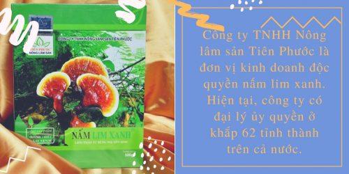 Bạn có thể tìm mua nấm lim xanh rừng tự nhiên ở các đại lý của công ty trên 62 tỉnh thành