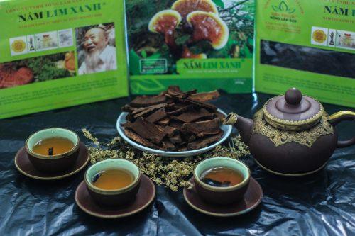 Sản phẩm nấm liên xanh rừng của công ty TNHH Nông Lâm Sản Tiên Phước