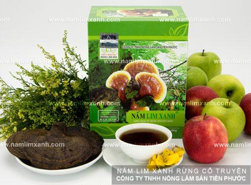 Sản phẩm Nấm lim xanh của Công ty TNHH Nông Lâm Sản Tiên Phước được chế biến đúng cách