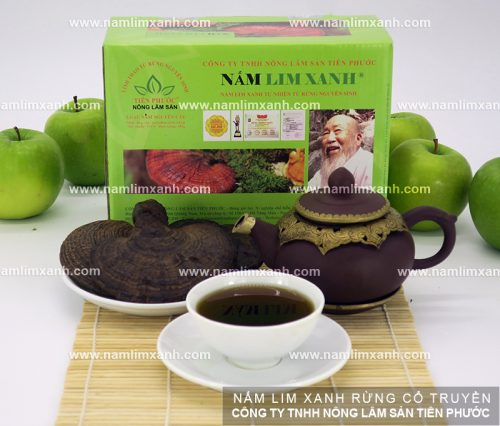 Sản phẩm nấm lim xanh loại nguyên cây có giá 1.100.000 đồng/hộp.
