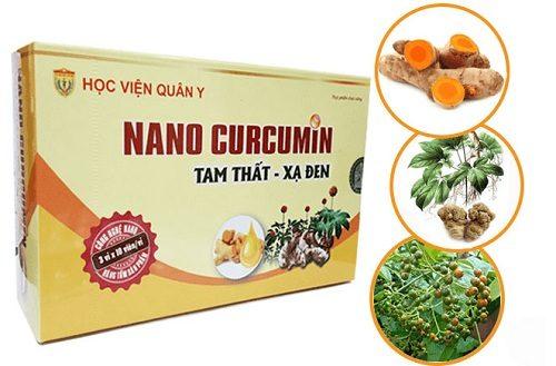 Nano curcumin tam thất xạ đen mang lại rất nhiều công dụng chữa bệnh do Học viện Quân Y nghiên cứu và sản xuất.