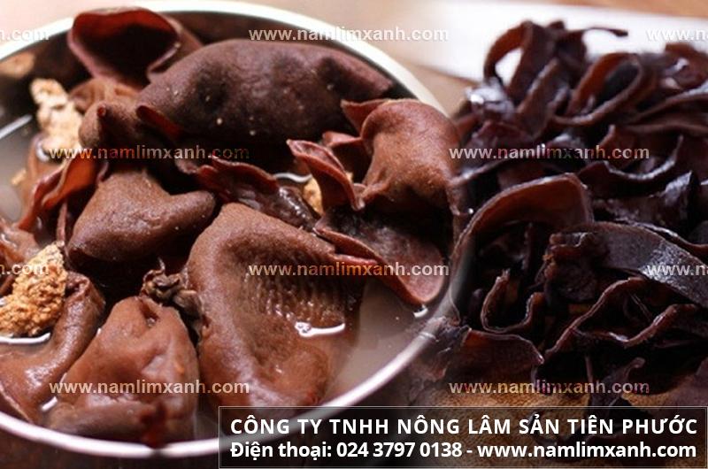 Cách dùng nấm tai mèo là nguyên liệu chế biến các món ăn bổ dưỡng