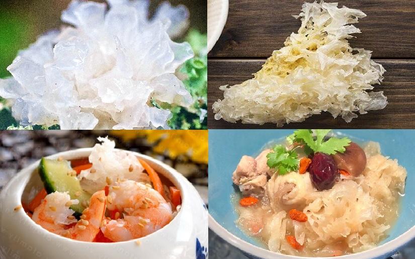 Các món ăn từ nấm tuyết và cách nấu nấm mộc nhĩ trắng ngon bổ