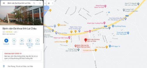 Bản đồ đường đi các tuyến xe bus đến Bệnh viện Đa Khoa tỉnh Lai Châu