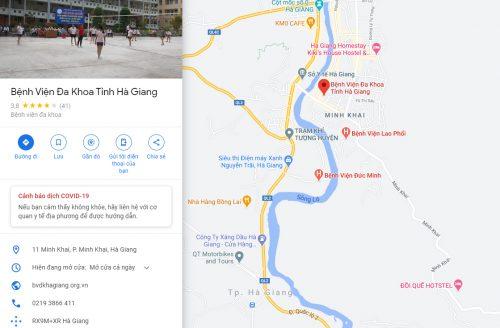 Bản đồ đường đi và các phương tiện đến Bệnh viện Đa khoa tỉnh Hà Giang